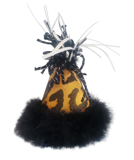 Party Hat, Black & Gold