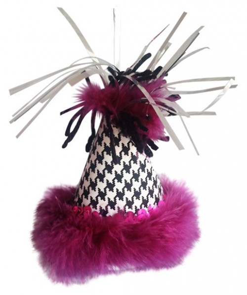 Party Hat, Black, White & Pink