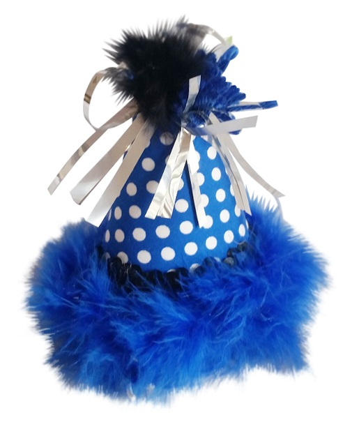 Party Hat, Blue Dots