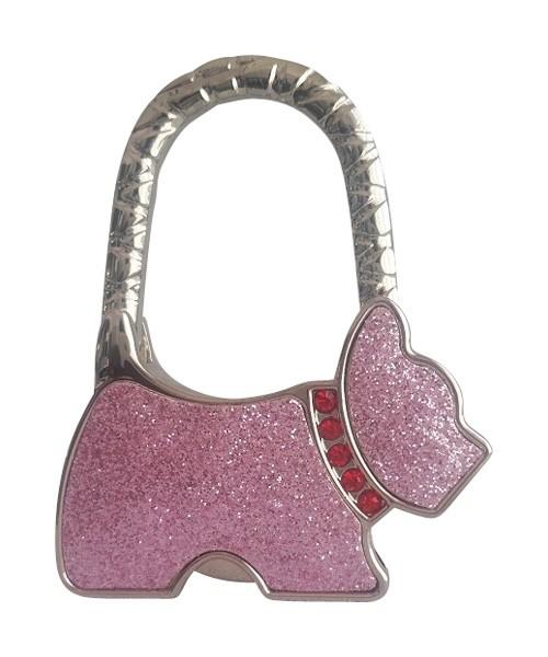 Purse Hanger Light Pink Dog